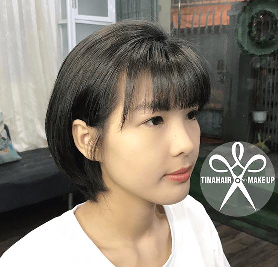 Nhuộm tóc màu than chì Hạnh 910