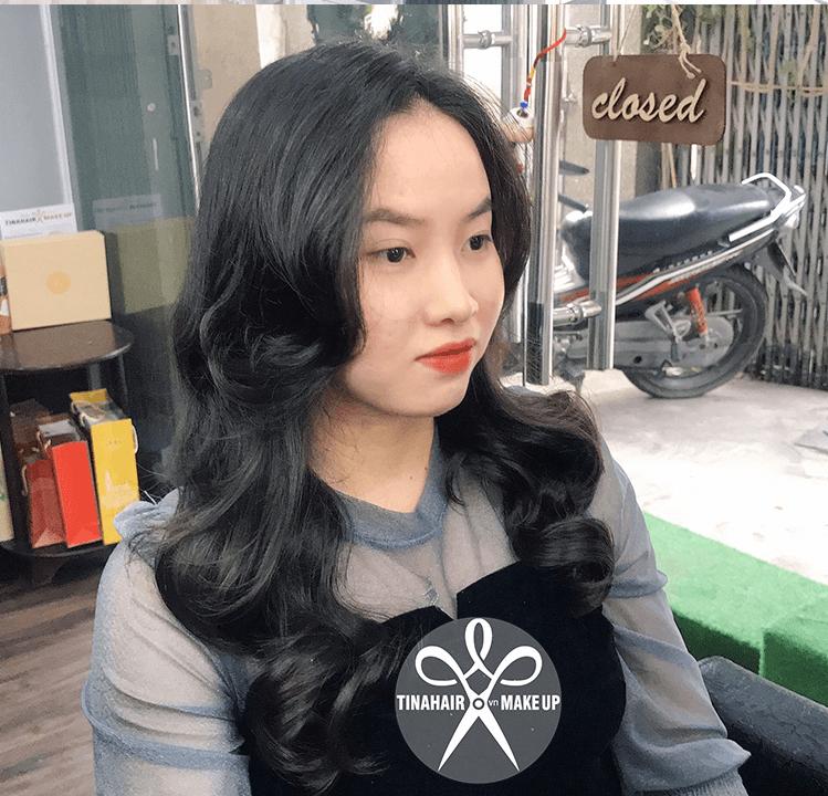 Uốn tóc sóng lơi hàn quốc Rachel Hồ 021