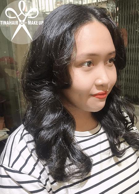 Phục hồi tóc hư tổn & Uốn sóng lơi Vy 054
